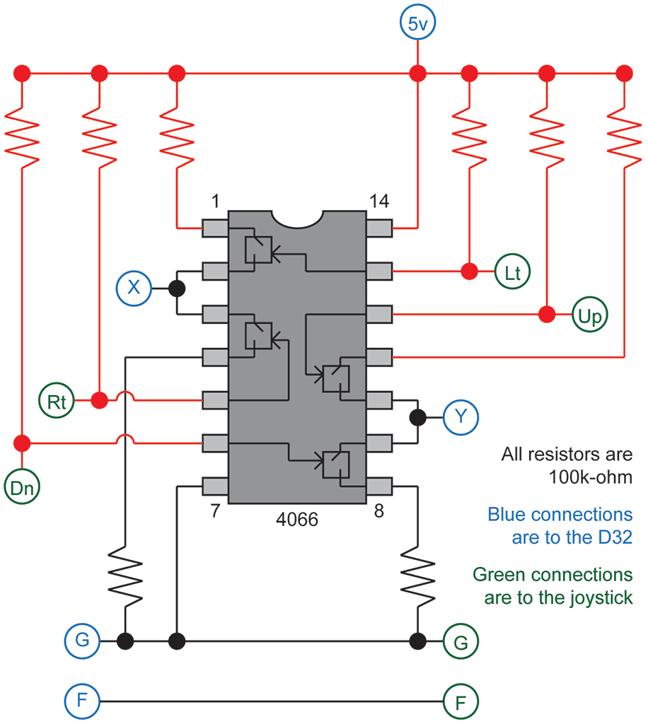 analog joystick wiring diagram  | 410 x 380
