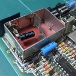 Modified modulator unit reattached to main board